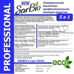 SARBIO К  универсальное кислотное профессиональное моющее средство, канистра 5 кг
