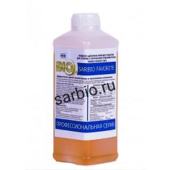 SARBIO FAVORITE 8801 концентрированное щелочное моющее средство с оптическим отбеливателем, бутылка 1 кг