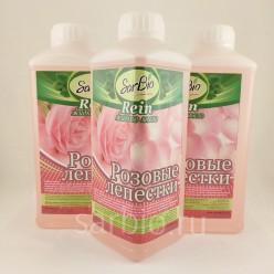 SARBIO RЕIN Жидкое мыло с ароматом Розовые лепестки, бутылка 1 кг