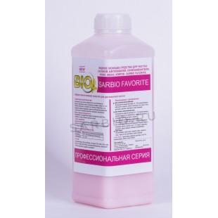 SARBIO FAVORITE  жидкое моющее средство для чистки кожи,меха,салонов автомобилей, бутылка 1 кг
