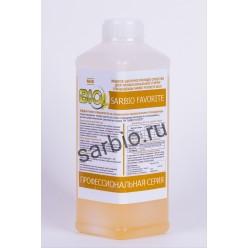 SARBIO FAVORITE 8810 концентрированное щелочное моющее средство для стирки рабочей одежды, бутылка 1 кг