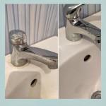 💯С помощью Sarbio K отмыты застарелые загрязнения на смесителе и керамической раковине! 👍Средство безопасно для всех поверхностей в ванной комнате и туалете. ✨Стоимость: 1,1 кг- 295.8 рублей 5 кг- 1153.2 рублей.  Действуют дополнительные скидки!  #sarbio #моющиесредствадлядома #профессиональнаяхимия #клининг #уборкаквартир #horeca #уборка #аквачистка #химчистка #прачечная #стирка #чистящиесредства #моющиесредствадляпищевыхпроизводств